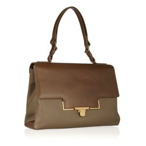 Lanvin | Miss Sartorial Calfskin Bag Taupe/Brown